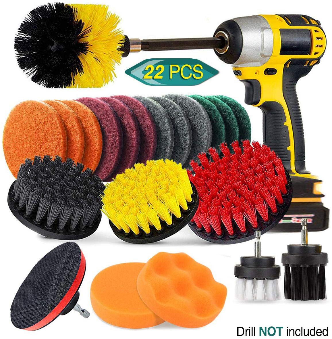 9 Packs Wire Drill Brush Sets