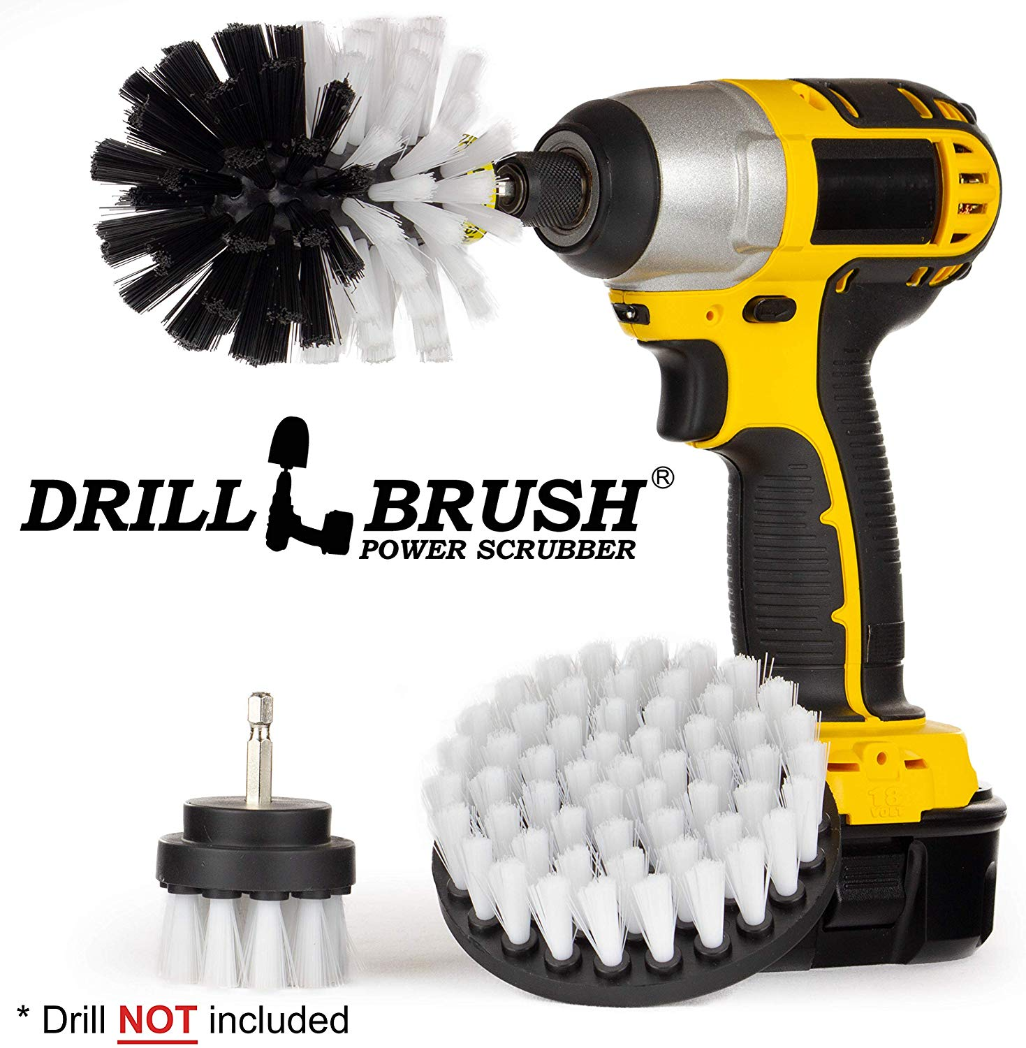 Drill brush 3 Piece Drill Brush Cleaning Tool Attachment Kit for Scrubbing