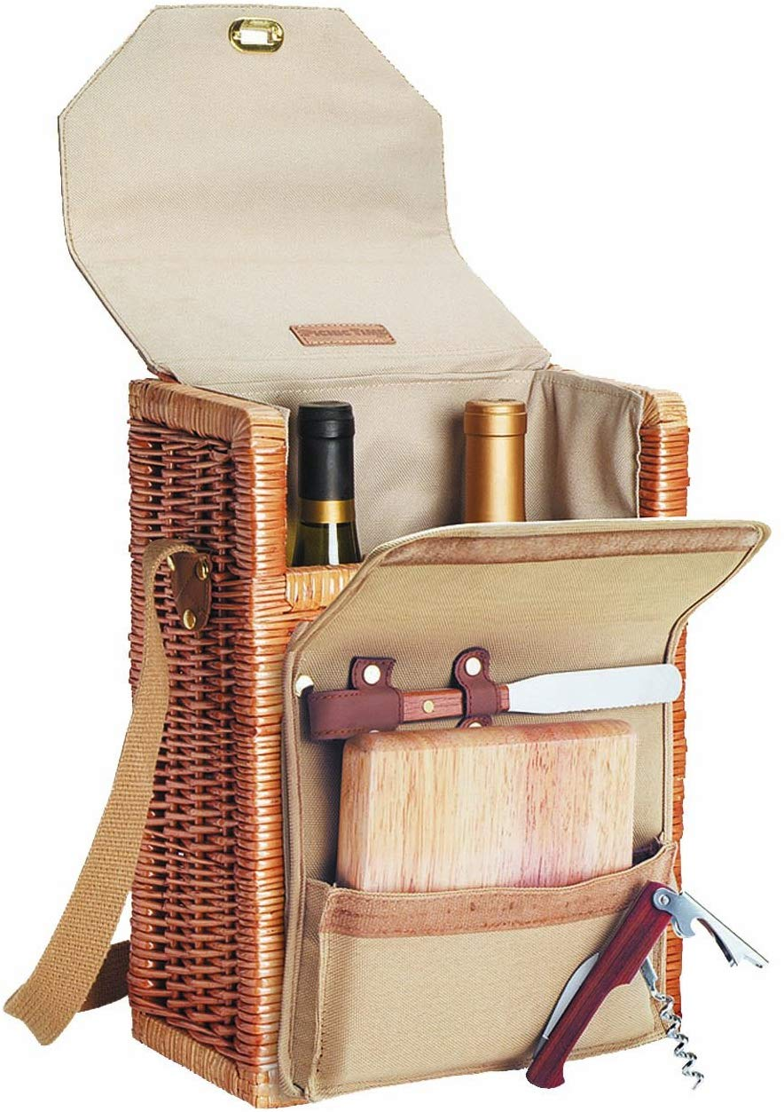 Picnic Time Corsica Insulated Wine Basket