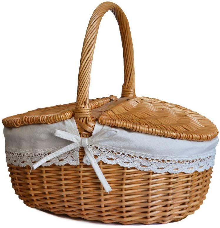 RURALITY Wicker Picnic Basket