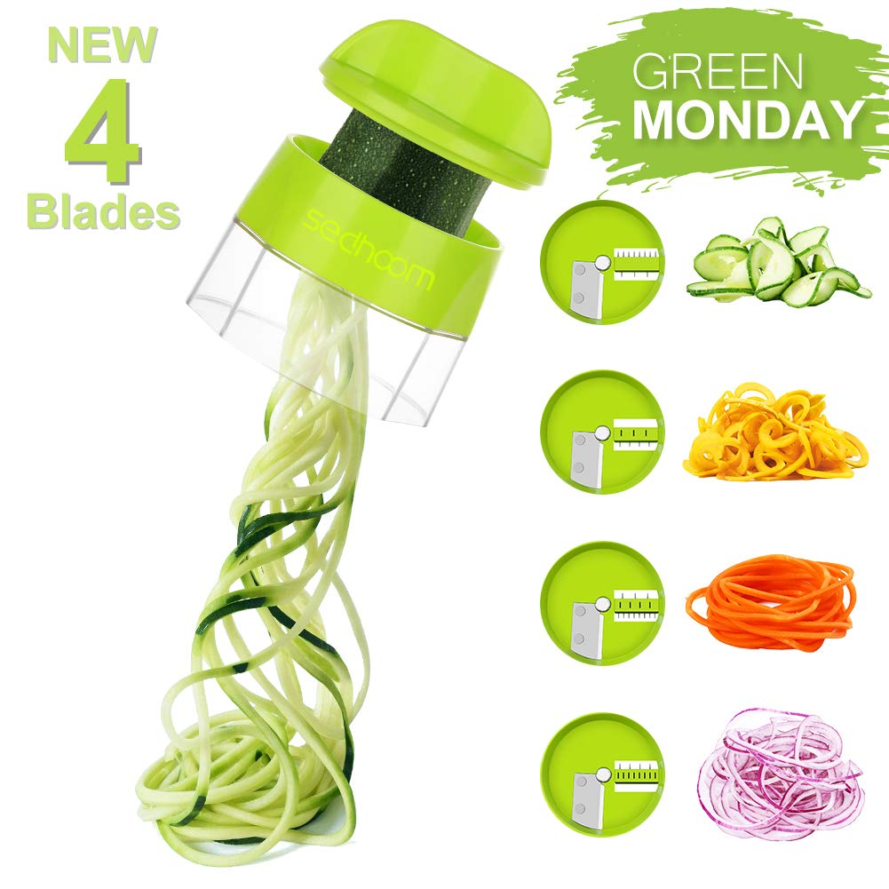 Sedhoom 4 in 1 Handheld Spiralizer