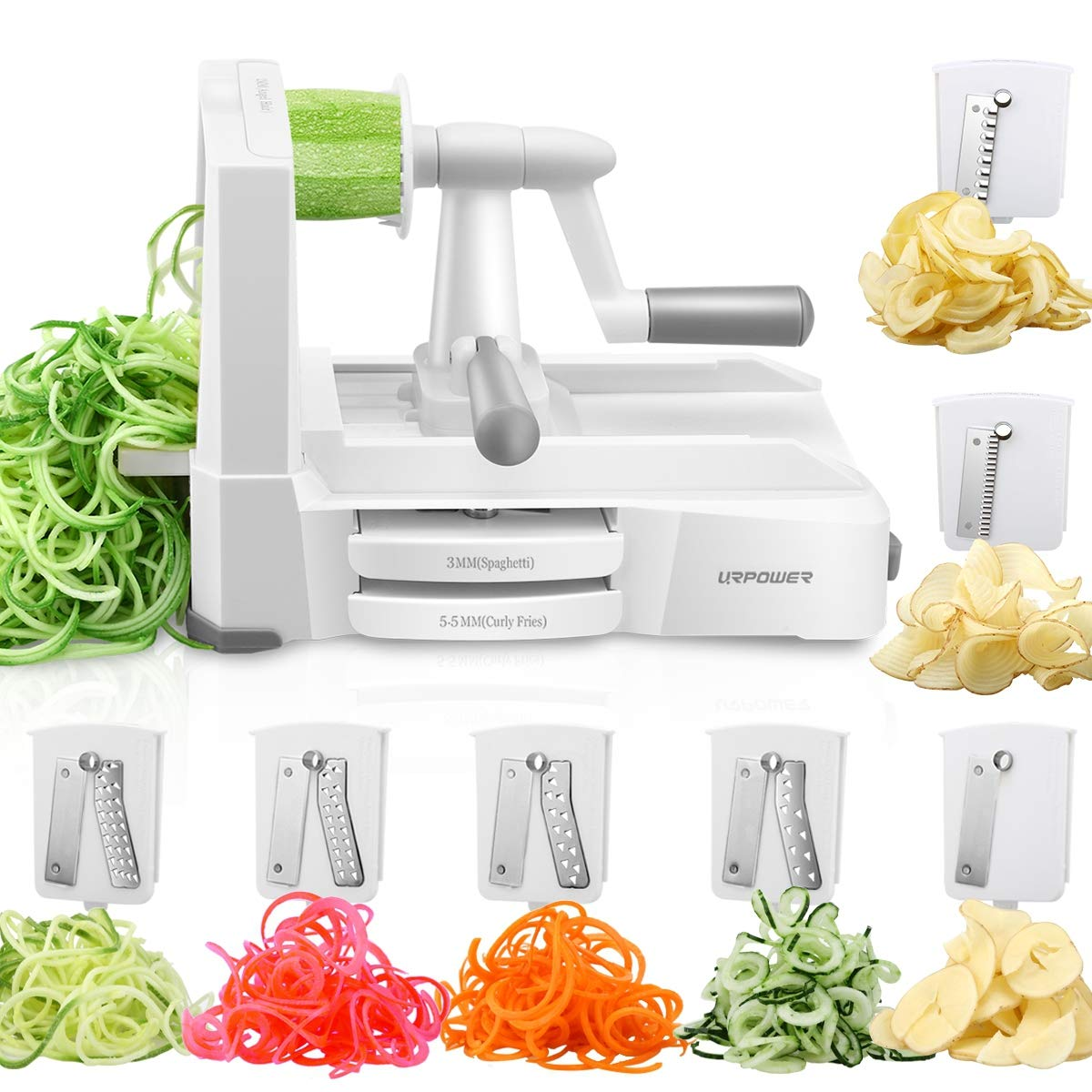 URPOWER Spiralizer Vegetable Slicer
