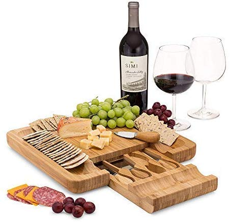 Bamboo Cheese Board Set by Dynamic Gear