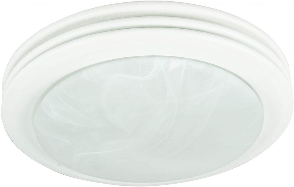 Hunter Home Comfort 90052 Saturn Decorative Bathroom Ventilation Fan with Light in Satin White