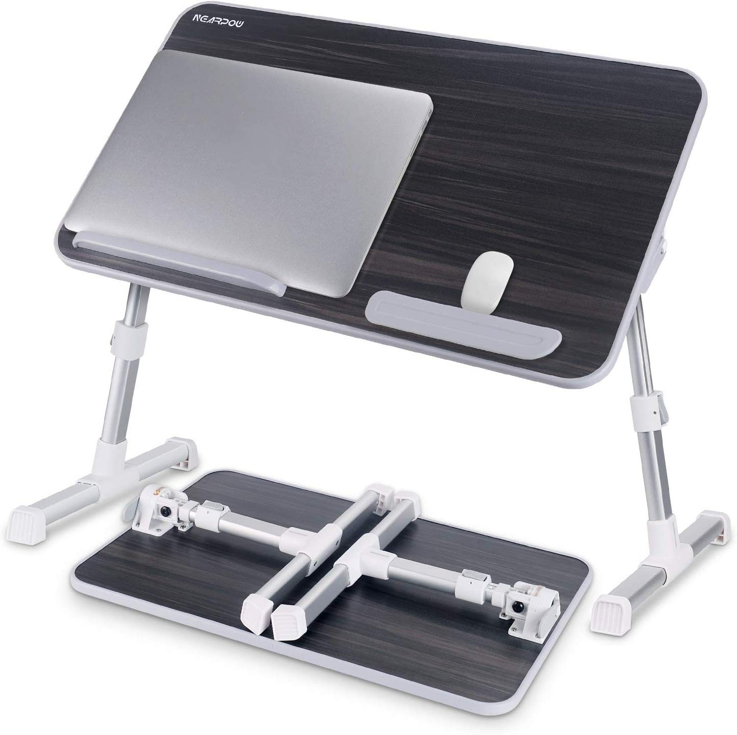 Foldable Sofa Breakfast Tray No Fan Notebook Stand Reading Holder for Couch Floor Home-Neat Adjustable Laptop Table Portable Standing Bed Desk