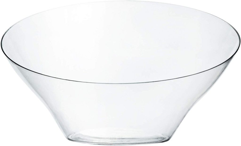 Plasticpro Disposable Angled Plastic Bowls Round Small Serving Bowl