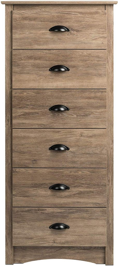 Prepac Salt Spring 6-Drawer Tall Chest