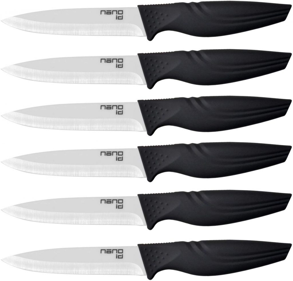 Steak Knives Set of 6, Nano ID Ceramic