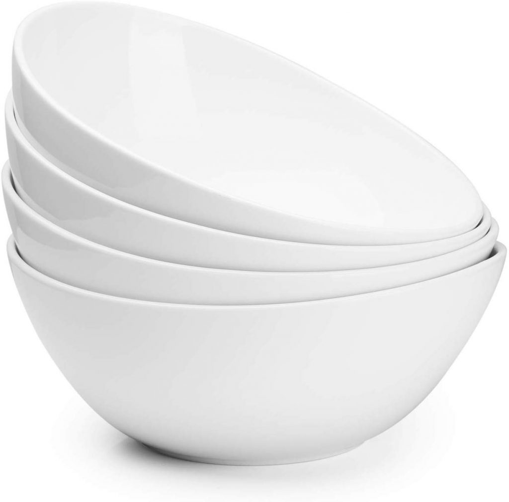 Sweese 104.101 Porcelain Bowls - 42 Ounce for Cereal, Salad and Popcorn