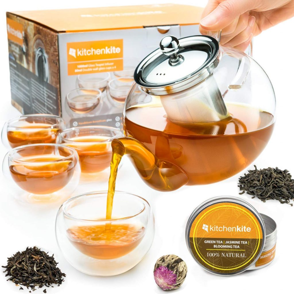 Tea Kettle Infuser Stovetop Gift Set