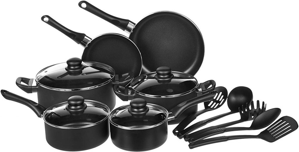 AmazonBasics Kitchen Cookware Set