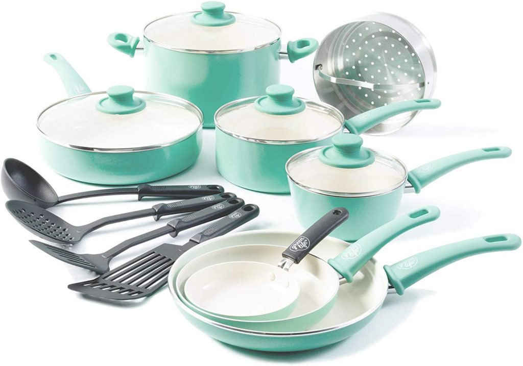GreenLife Soft Grip Cookware Set