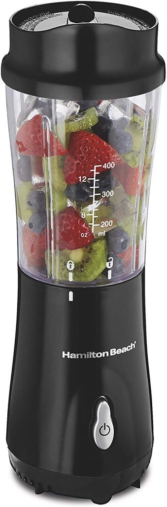 Hamilton Beach Personal Blender for Shakes and Smoothies with 14oz Travel Cup and Lid