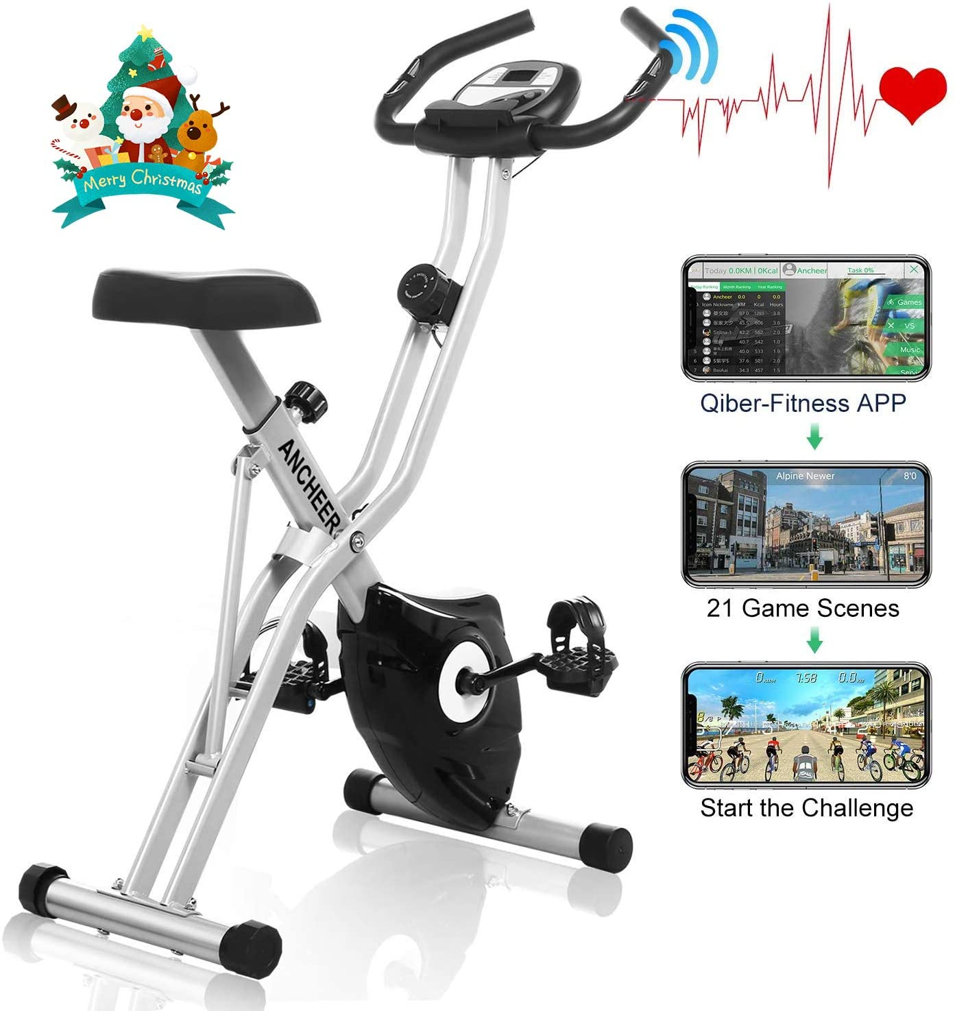 ANCHEER Magnetic Resistance Exercise Bike