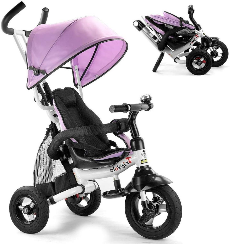 Costzon Baby 6-in-1 Foldable Tricycle