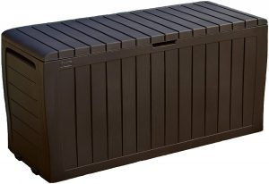 Keter Marvel Plus 71 Gallon Resin Outdoor Storage Box, Brown