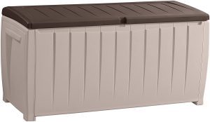 Keter Novel Plastic Deck Storage Container, Brown
