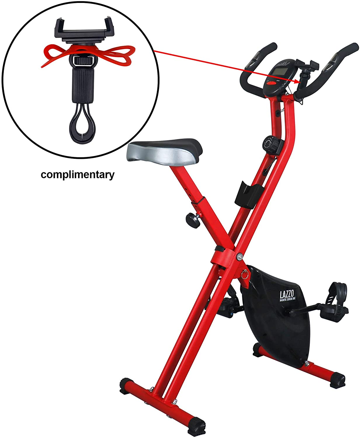 LAZZO Indoor Folding Magnetic Slim Exercise Bike