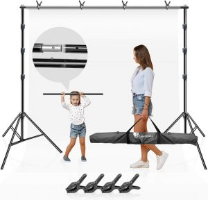 LimoStudio 10 x 9.4 ft. Muslin Backdrop Stands AGG3012