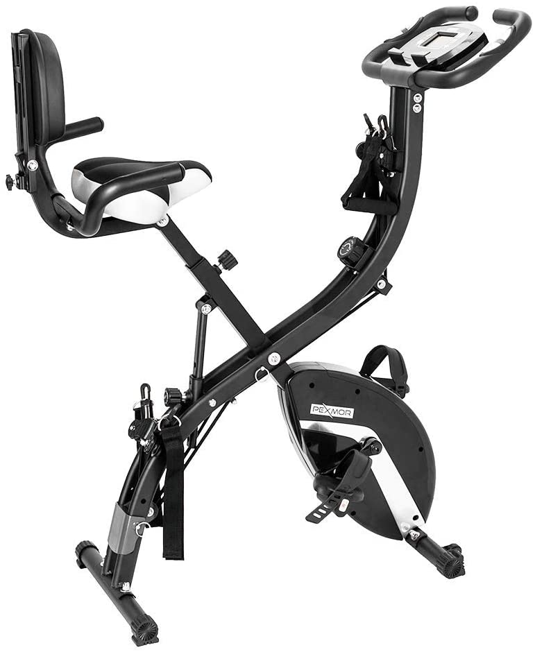 PEXMOR 3 in 1 Adjustable Folding Exercise Bike