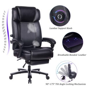 REFICCER Big and Tall Reclining Office Chair