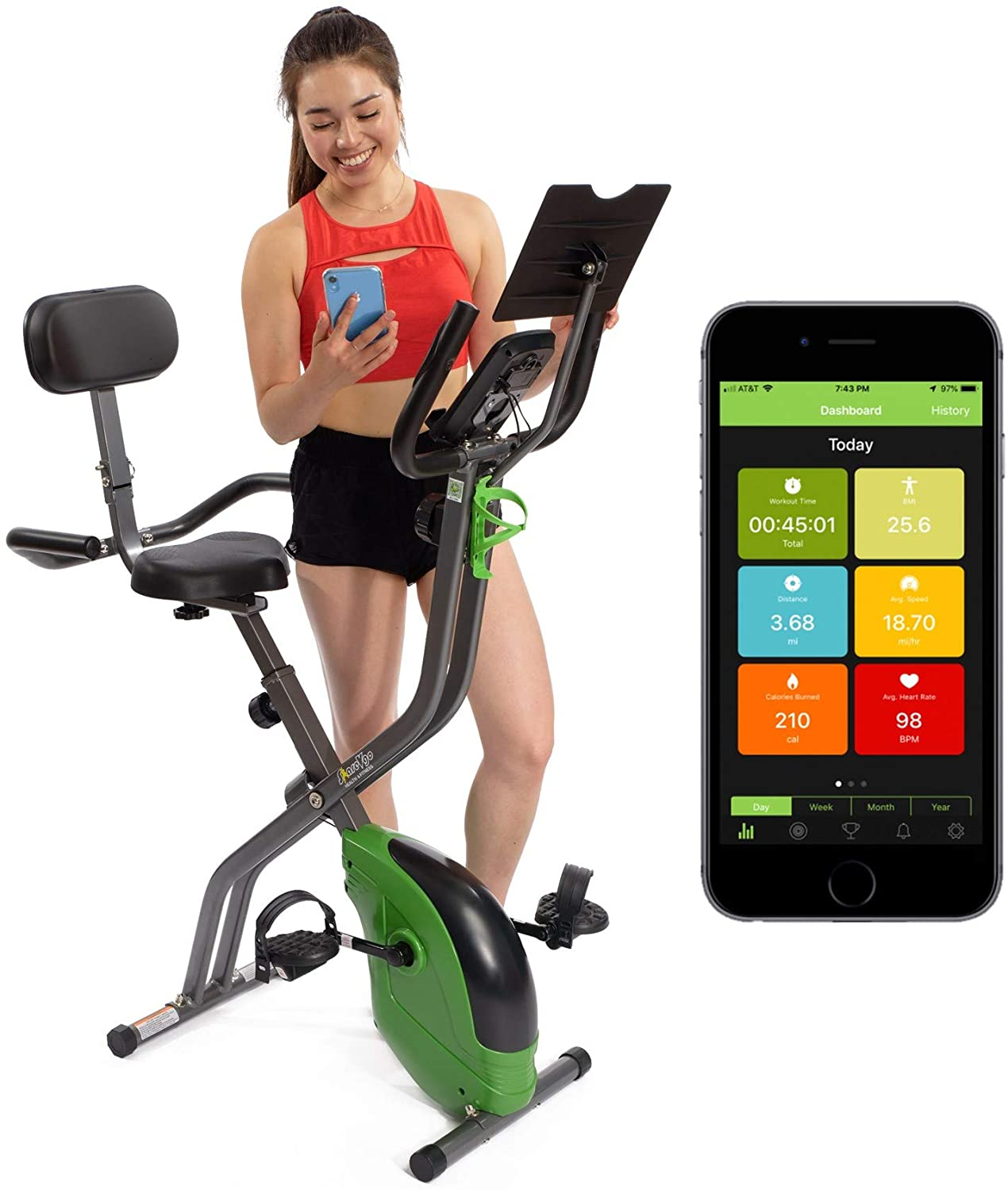 ShareVgo Bluetooth Smart Folding Exercise Bike