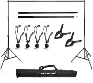 Slow Dolphin 10Ft Adjustable Backdrop Stand