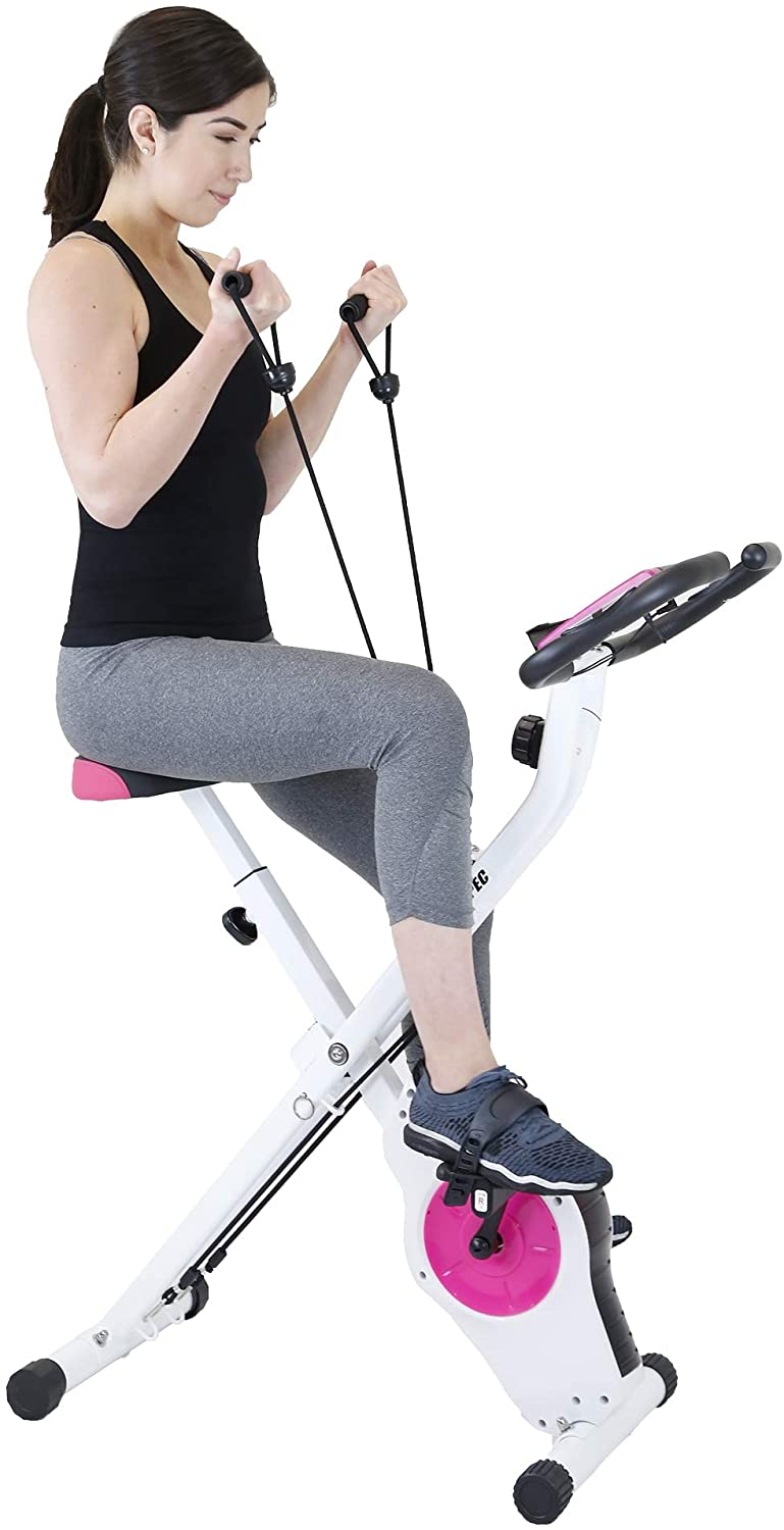 spec Indoor Foldable Stationary Upright Exercise Bike