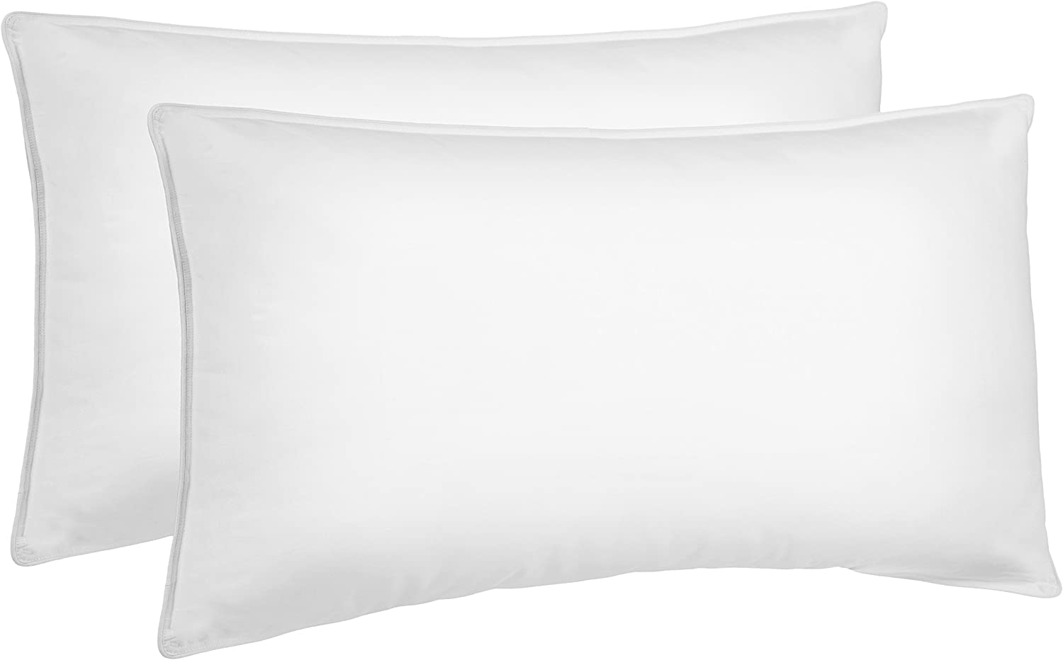 AmazonBasics Down Bed Pillows for Stomach & Back Sleepers