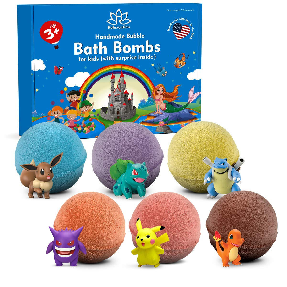 Bath Bombs For Kids by Relaxcation