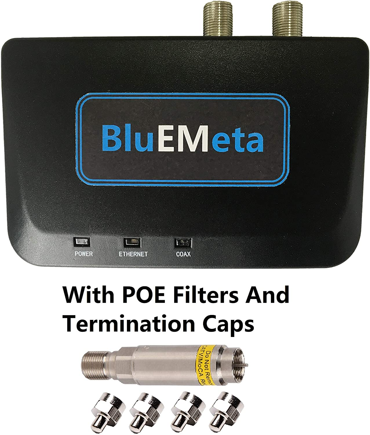 BluEMeta MoCA Adapters Bonded Coax to Ethernet Adapter Kit