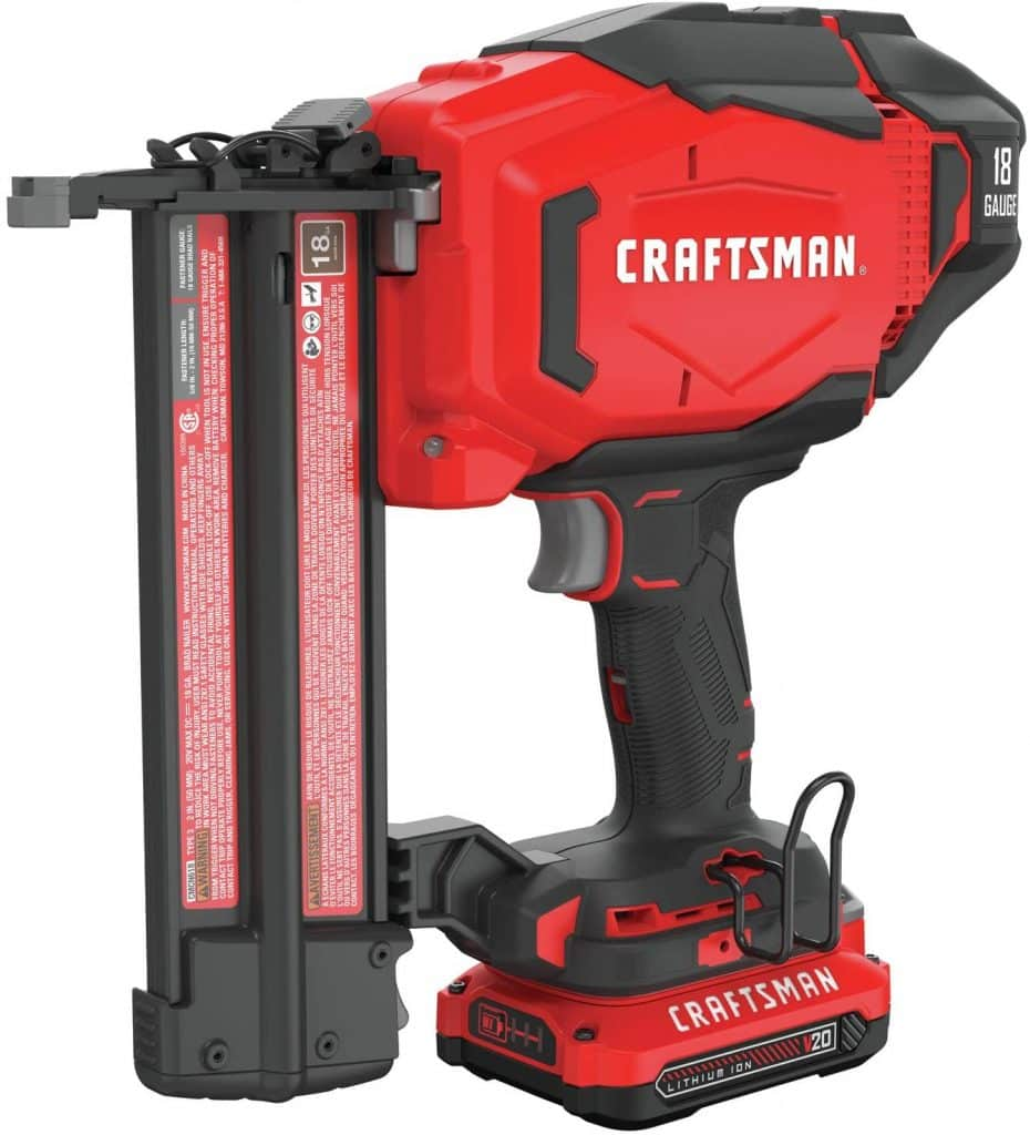 CRAFTSMAN V20 Cordless Brad Nailer Kit