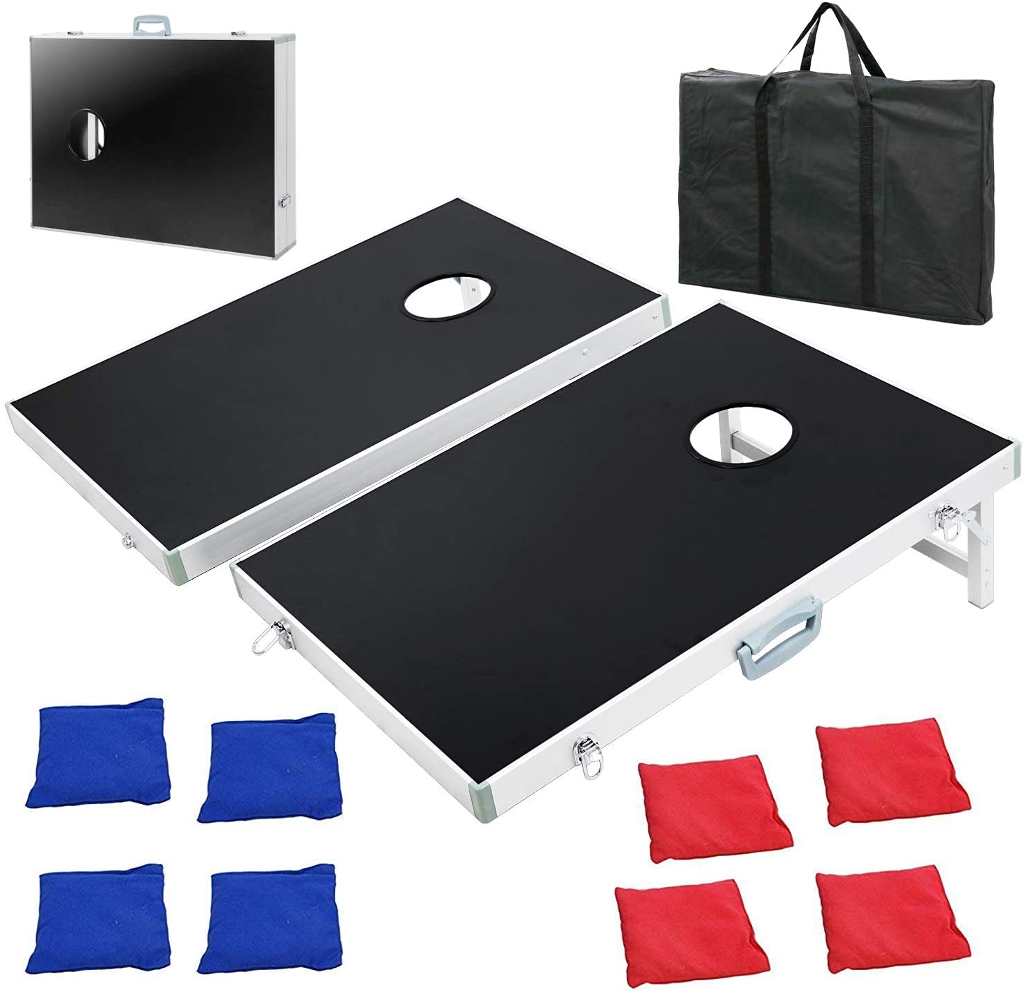 F2C Portable Cornhole Bean Bag Toss Game Set Boards