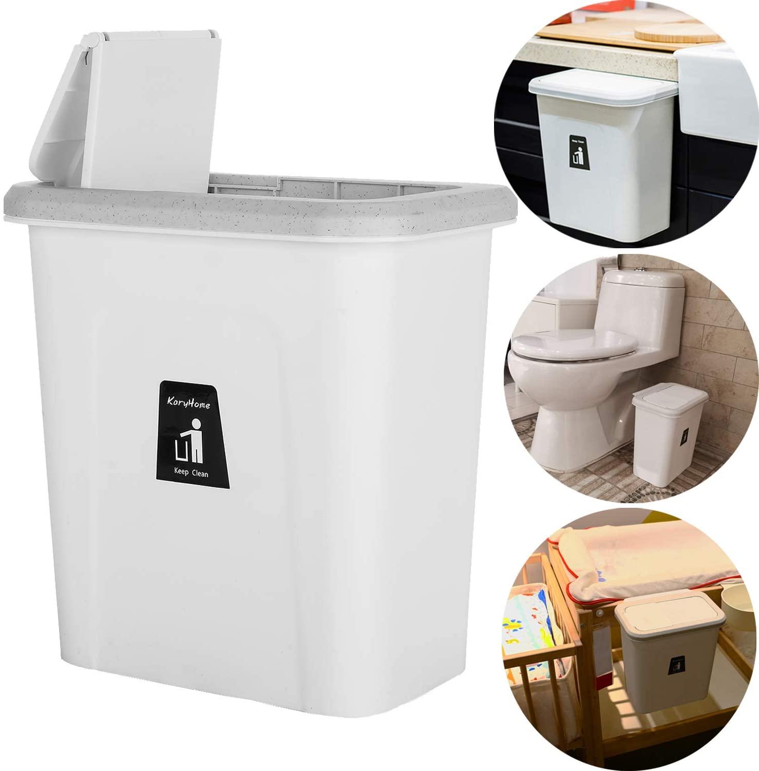 KaryHome Small Trash Can