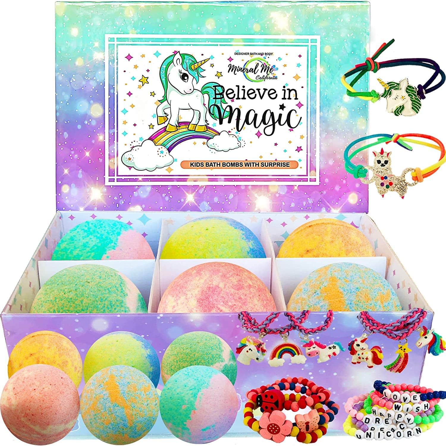 Unicorn Bath bombs by Mineral Me