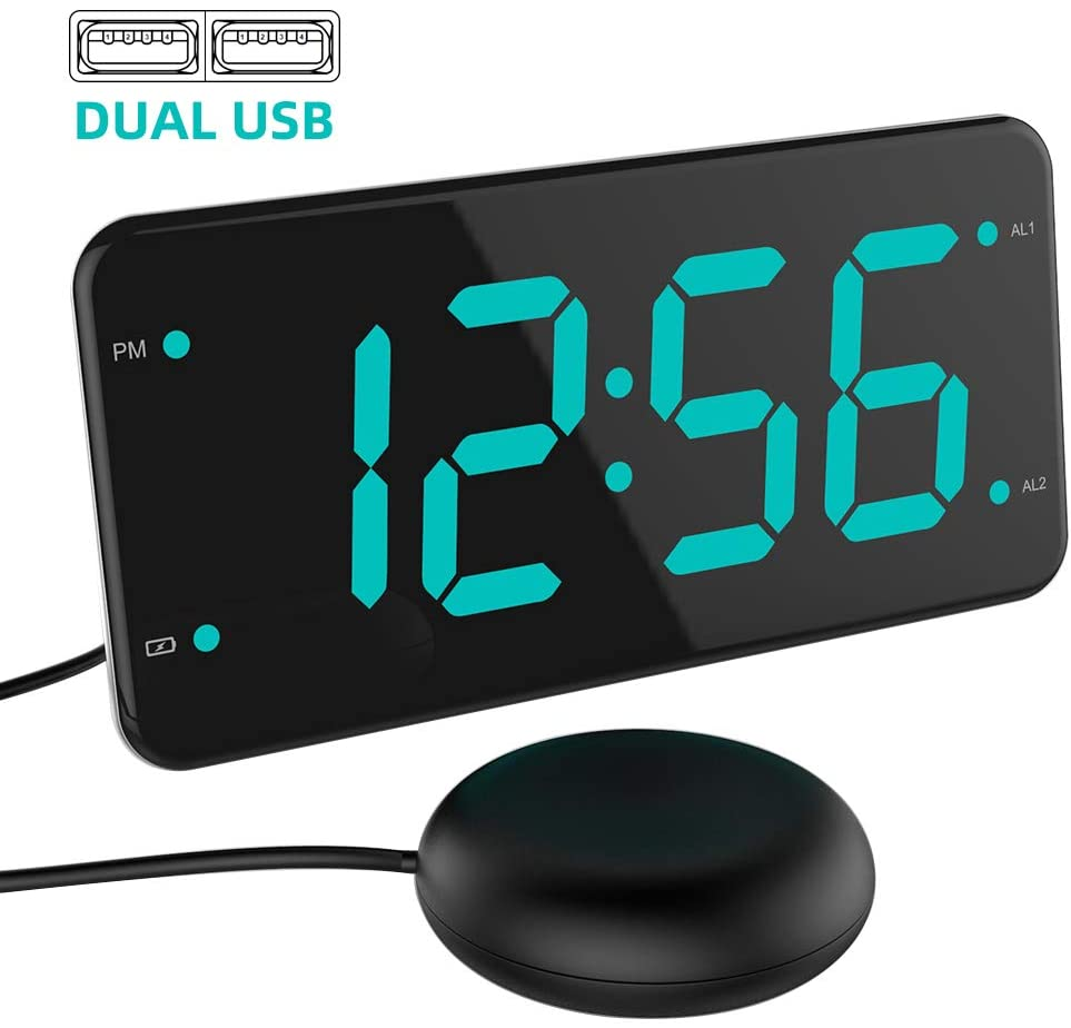 Loud Alarm Clock with Bed Shaker by LIELONGREN