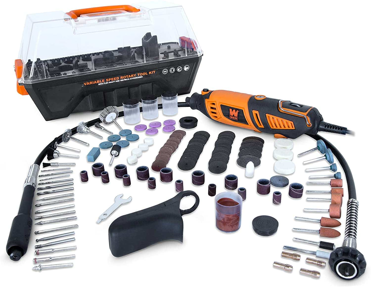WEN 23190 1.3-Amp Steady-Grip Rotary Tool Kit