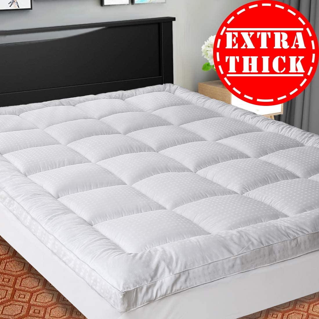 SOPAT Breathable Extra Thick Mattress Topper