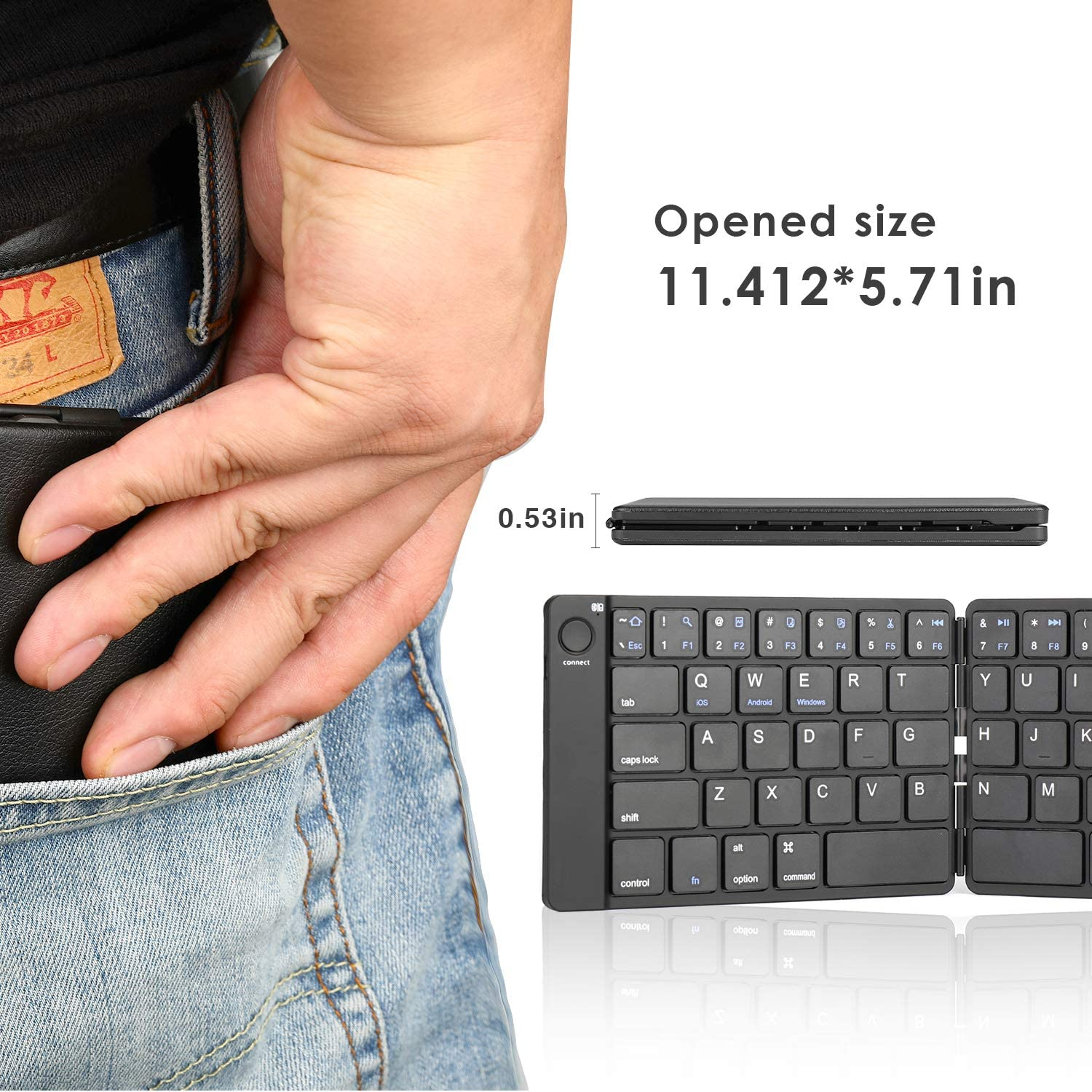 ViFun Foldable Bluetooth Keyboard