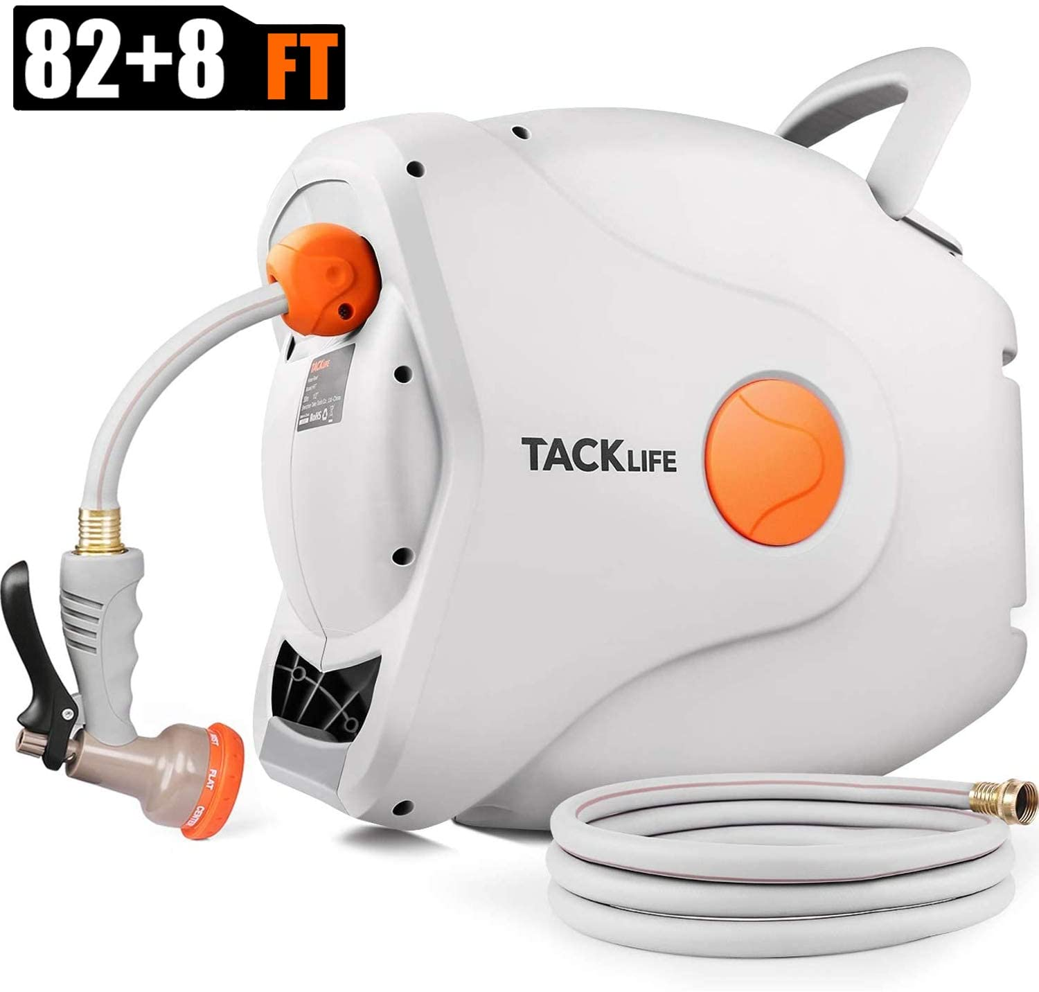 TACKLIFE 5/8'' Retractable Hose Reel, Wall Retractable Hose Reel