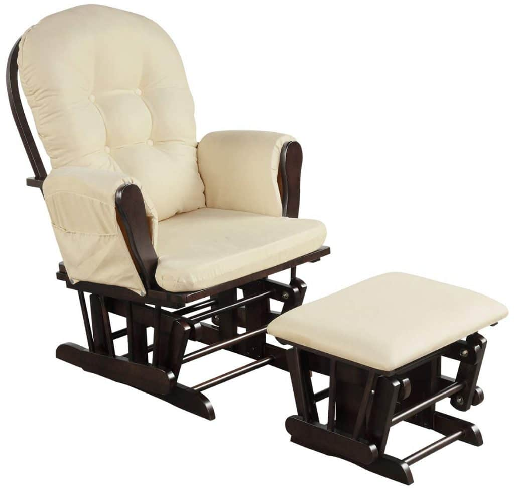 Costzon Baby Glider and Ottoman Cushion Set
