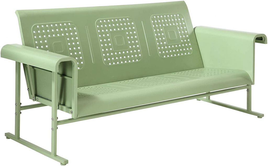 Crosley Furniture CO1028-GR Veranda Retro Outdoor Metal Sofa Glider