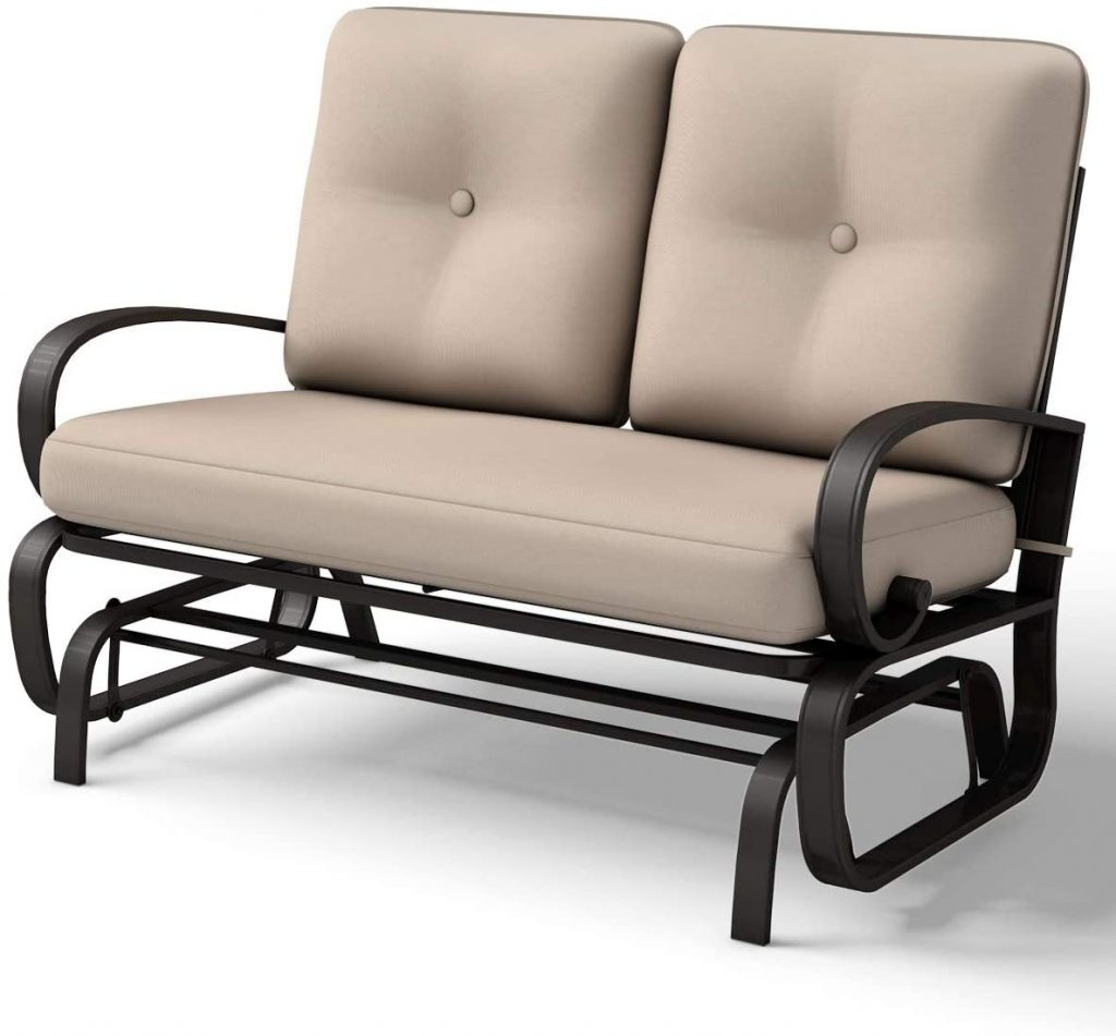Giantex Loveseat Outdoor Patio Rocking Glider