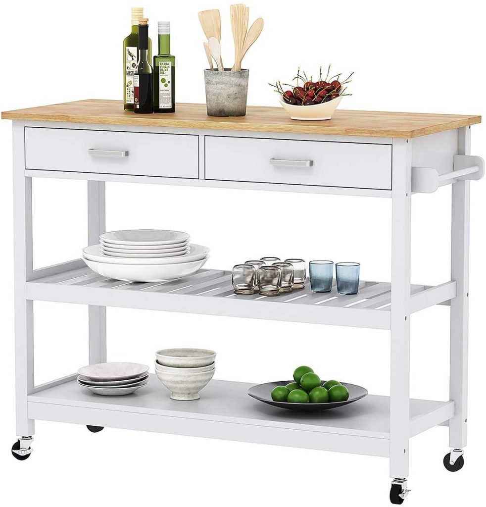 Home Aesthetics Kitchen Island Cart Trolley