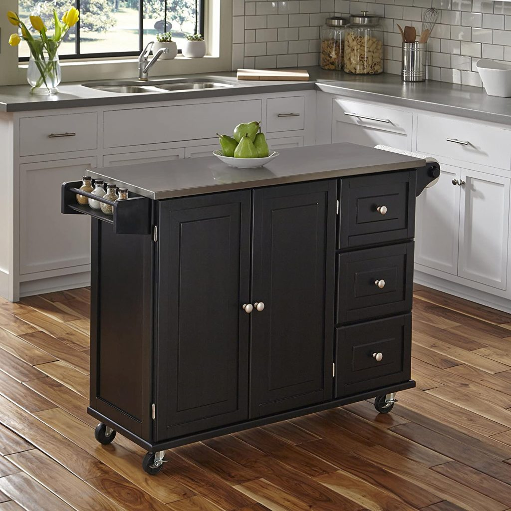 Home Styles Liberty Black Kitchen Cart