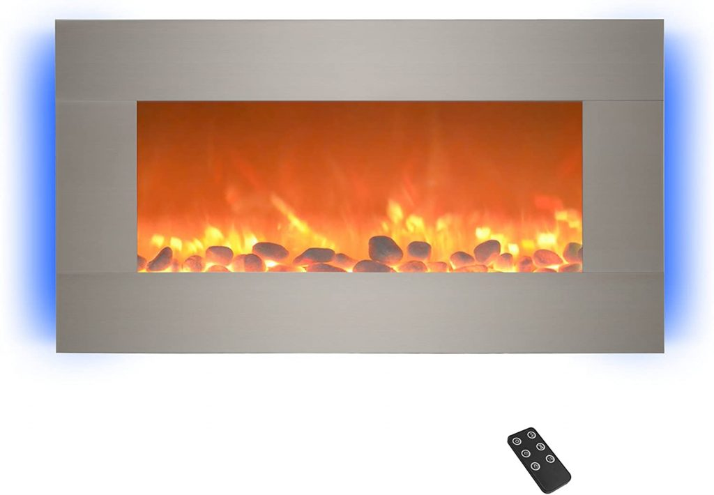 Home lectric 13 (Brushed Silver) Electric Fireplace
