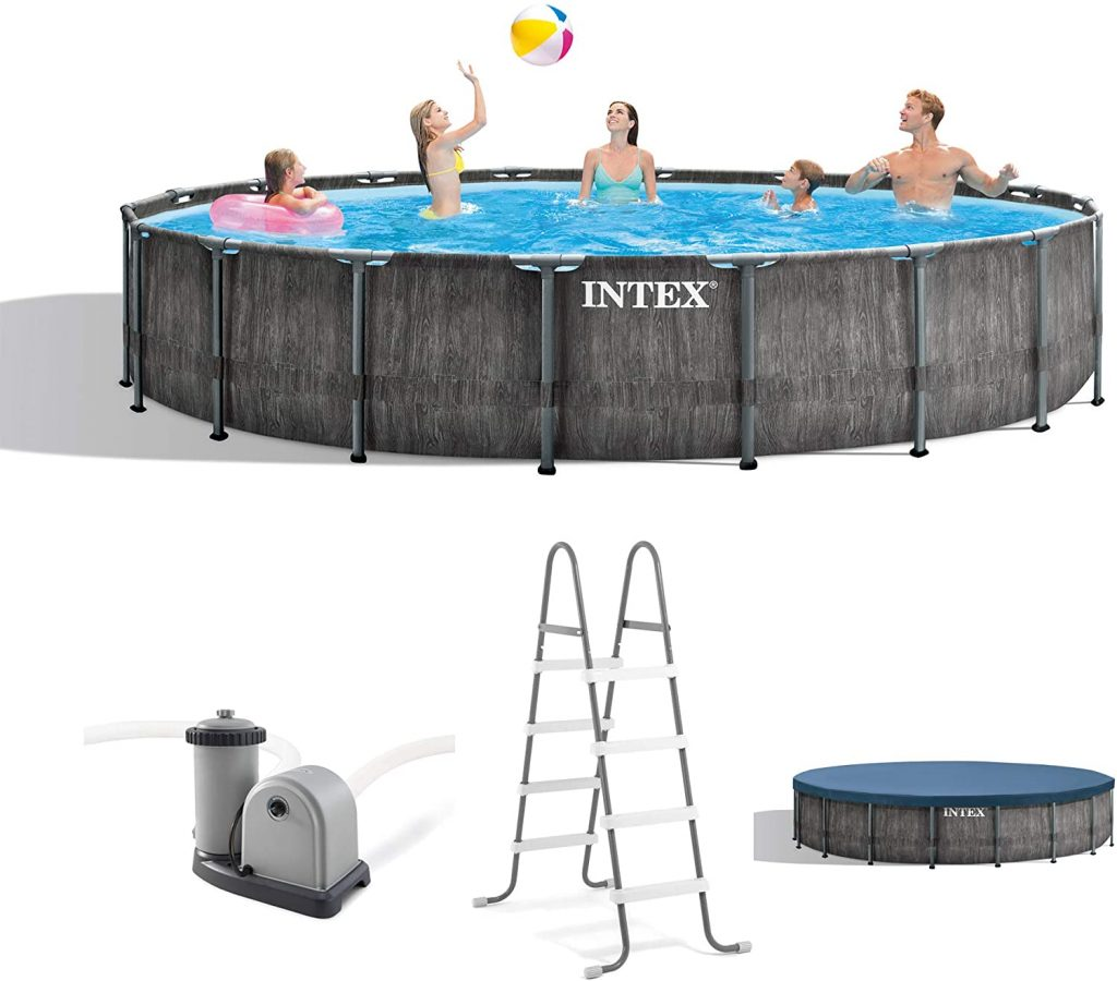 Intex 26743EH Outdoor Above Ground Swimming Pool