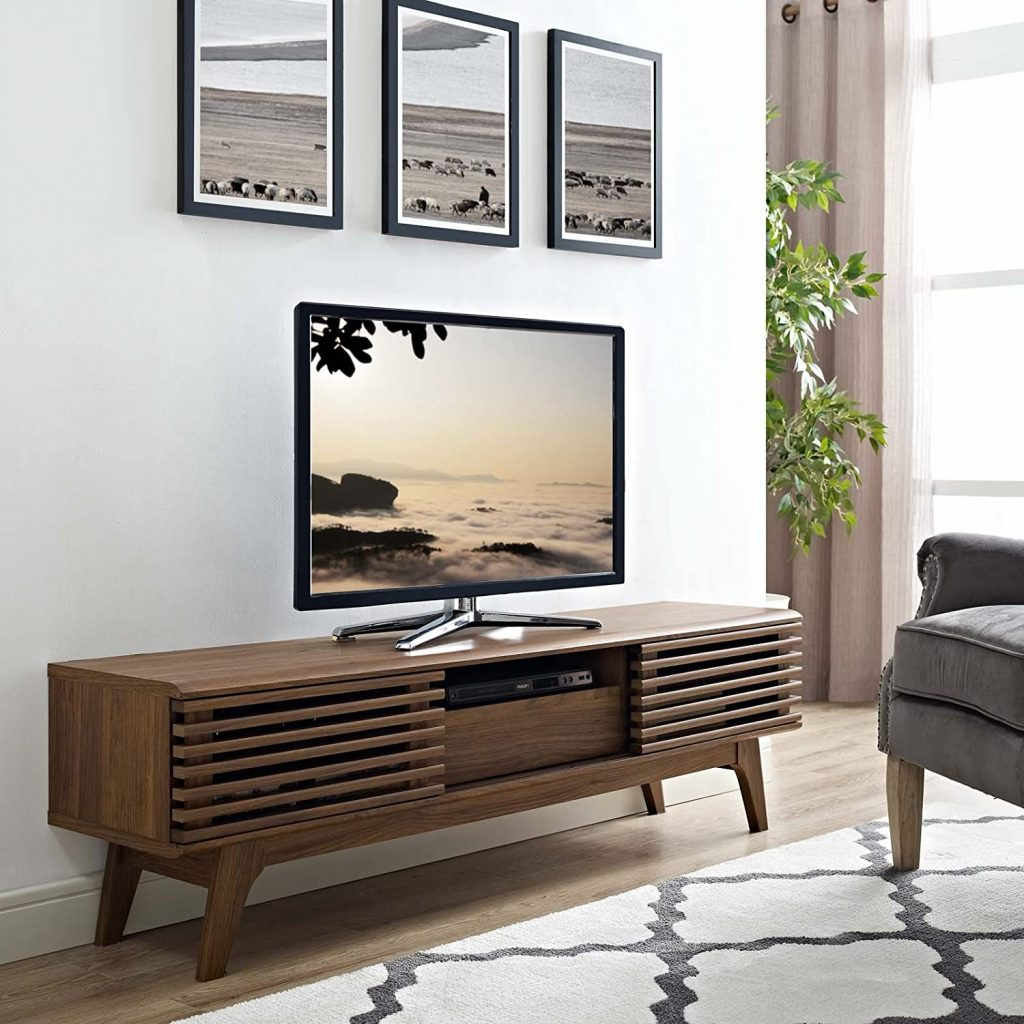 Modway Render Mid-Century Modern Low Profile 59 Inch TV Stand