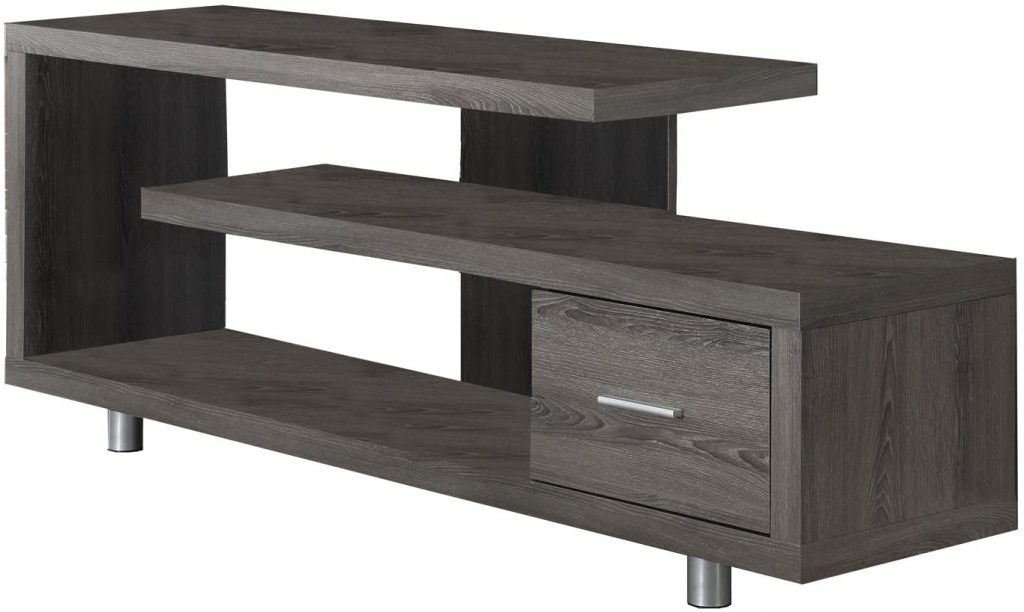 Monarch Specialties Dark Taupe with 1 Drawer TV Stand