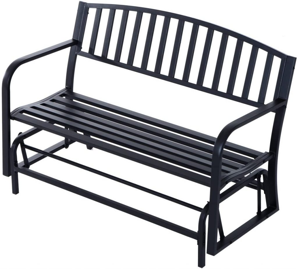 "Outsunny 50"" Outdoor Patio Swing Glider Bench Chair"